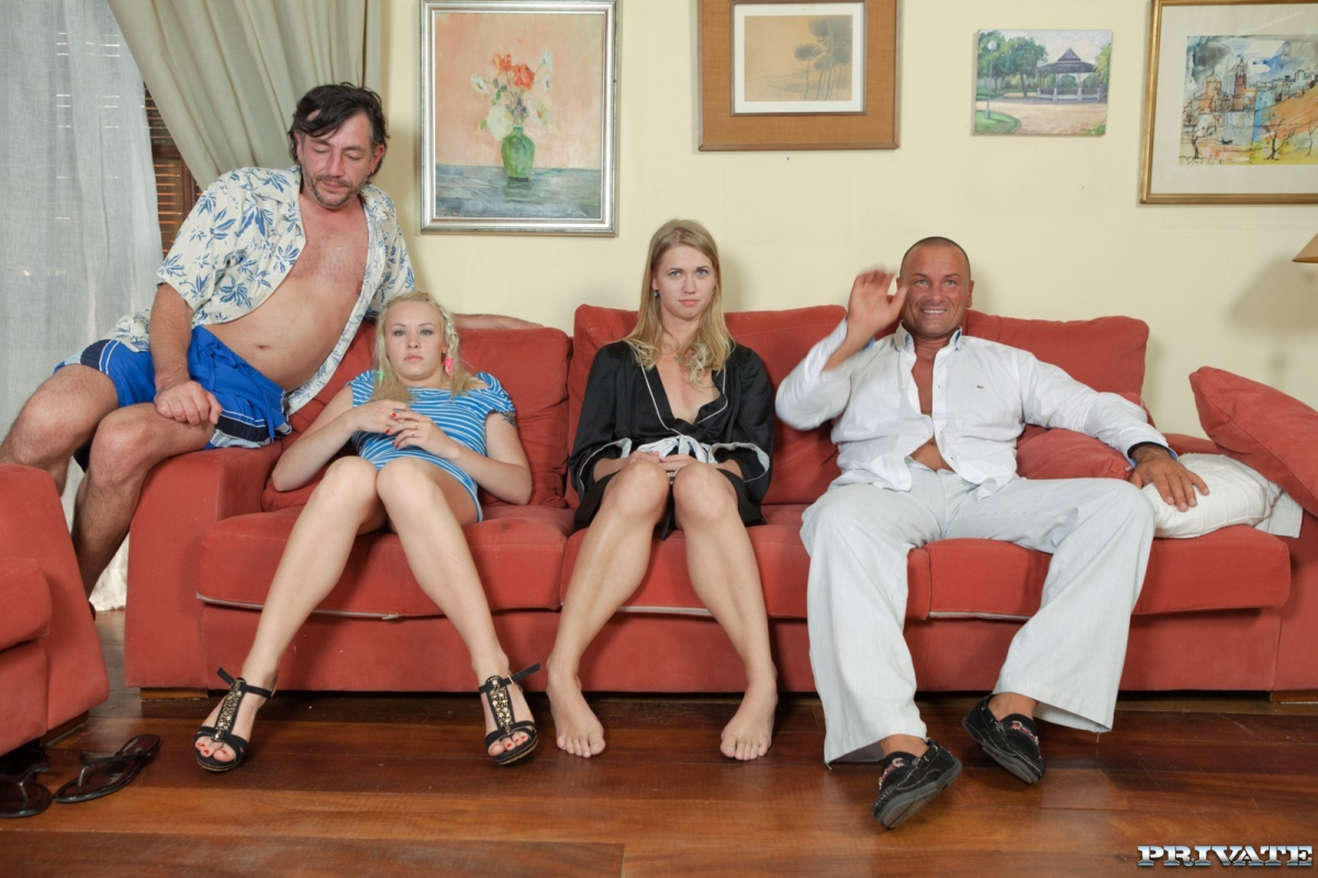 Lolita and Violette Have an Orgy with Their Men on the Same Couch (Private)