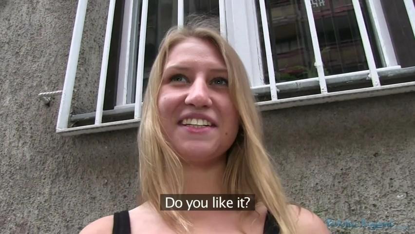 Nervous Russian Accepts Cash For Sex From Stranger (PublicAgent)