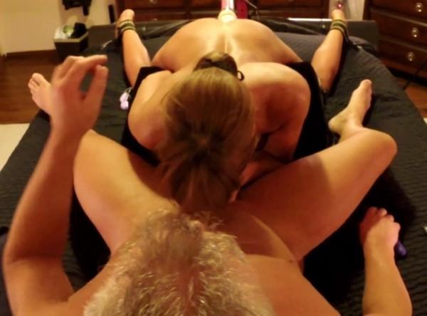 Cuerotic - Hot wife has 3 way husband stryker dildo fuck machine swallows (2017/PornHubPremium/1080p)