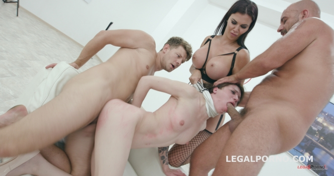Monika Wild, Jasmine Jae - Limit overcoming Part1 - Total abuse and degrading of Monika Wild by Jasmine Jae - Submission / Foot Fetish GIO434 (2017/LegalPorno/SD)