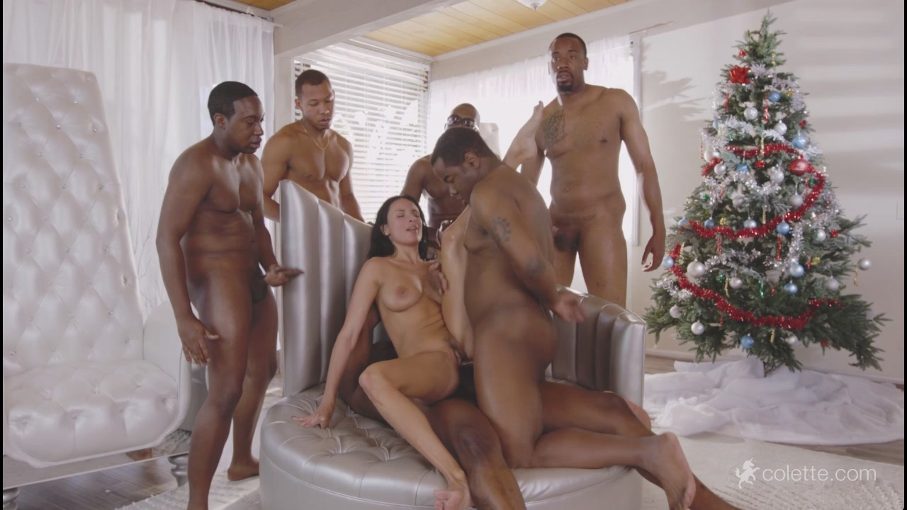 Anissa Kate - Anissa Gets Her Interracial Christmas Gang Bang Wish (Colette)