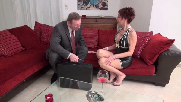 Catalya - Sexy big titted unfaithful and desperate housewife calls CockService and gets analyzed with cum in mouth (2017/NudeInFrance/SD)