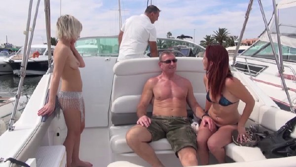 Britney - Boat day for a swinger couple with a man banging a young stunning blonde while his wife is watching (2017/NudeInFrance/SD)