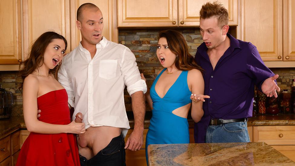 Riley Reid, Melissa Moore - Dinner For Sluts (RealWifeStories/Brazzers)