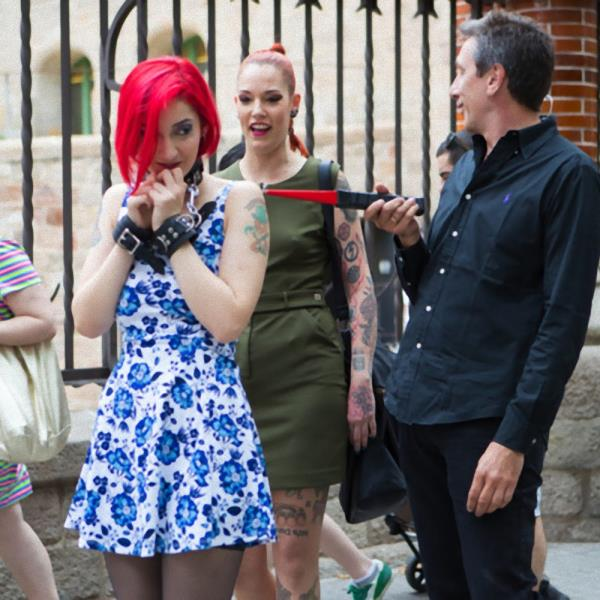 Silvia Rubi, Susy Blue, Margout Darko - Petite Natural Whore Shamed in Public and Gang Fucked in Rope Bondage! (PublicDisgrace/Kink/2017/HD)