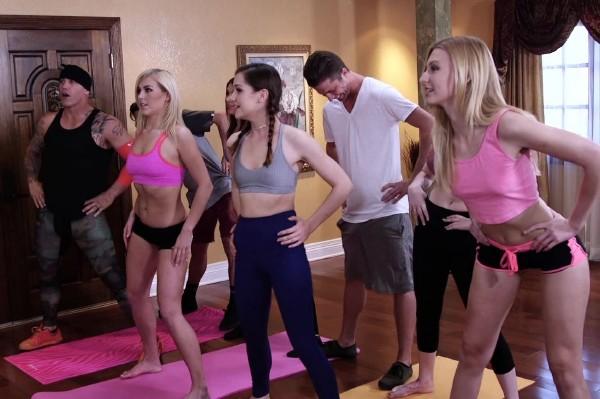 Kasey Warner, Alexa Grace, Tommy Pistol, Derrick Pierce, Tyler Nixon, Amber Ivy, Felicity Feline - Hot Orgy Session After Yoga Class (2017/ThirdMovies/Ztod/SD)