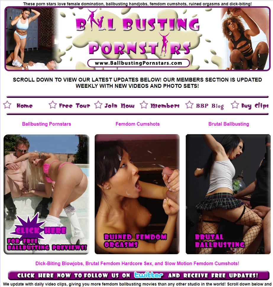 Ballbusting pornstars vids