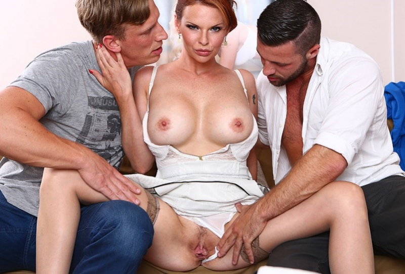 Tarra White - Hard DP with 2 strangers for my wife Tarra White (DorcelClub)