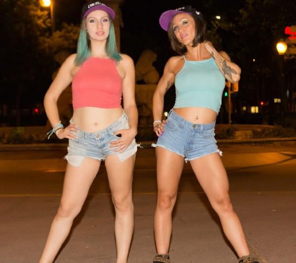 Betty Foxxx, Yuno Love - Wild Spanish lesbians Betty Foxxx And Yuno Love in hot public outdoor fuck (2017/ChicasLoca/PornDoePremium/SD)