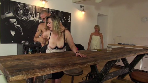 Amateurs - Two naughty gorgeous cousins compete for a guy and share his cock and get hard screwed up and sodomized in a hot FFM threesome action (2017/NudeInFrance/SD)