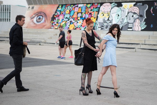 Francesca DiCaprio, Silvia Rubi - Young Whore Francesca DiCaprio Shamed, Tied-Up, and Fucked in Public (PublicDisgrace/Kink/2017/SD)