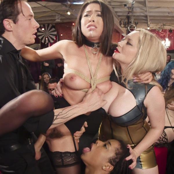 Aiden Starr, Kira Noir, Melissa Moore, Owen Gray - The Upper Floor Returns With a Squirting Slave Fuck Fest (TheupperFloor/Kink/2017/HD)