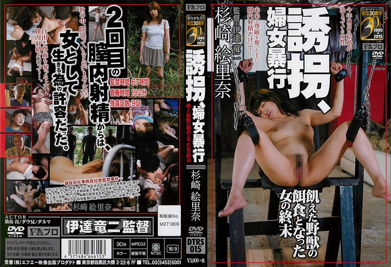 DTRS-015 誘拐、婦女暴行 杉崎絵里奈 Rape Orgy 拘束 90分 Restraint