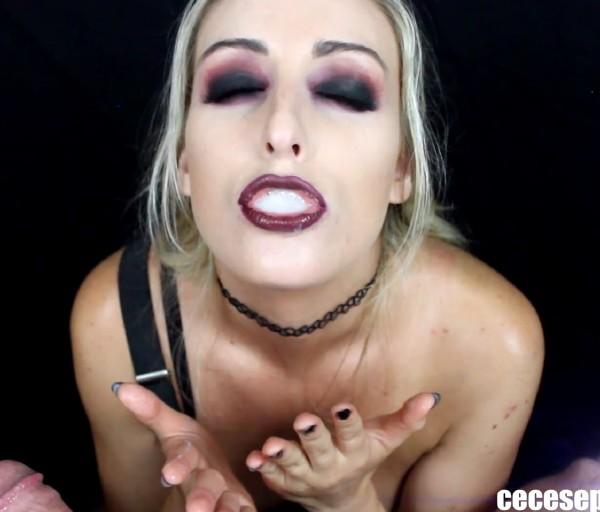 CeCe September - Goth Schoolgirl Blowjob (2017/CeCeSeptember com/ManyVids com/FullHD)