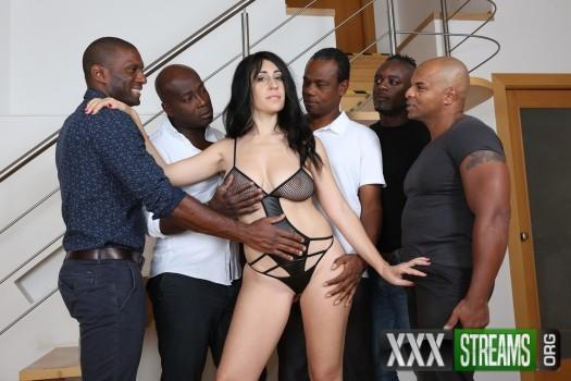 Eloa Lombard - milf whore enjoys five black cocks and gets DAPed IV106 (2017/LegalPorno/HD)