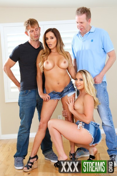 Francesca Le, AJ Applegate, Mark Wood, Bill Bailey - Swinging Couples Wife-Swap DP Party! (2017/EvilAngel/SD)