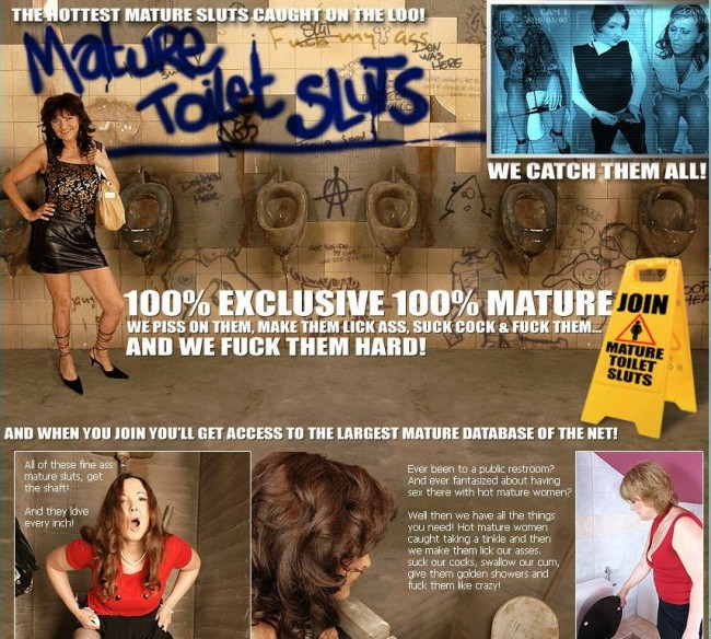 Mature-ToiletSluts SiteRip / Porn Stars / 50 vids