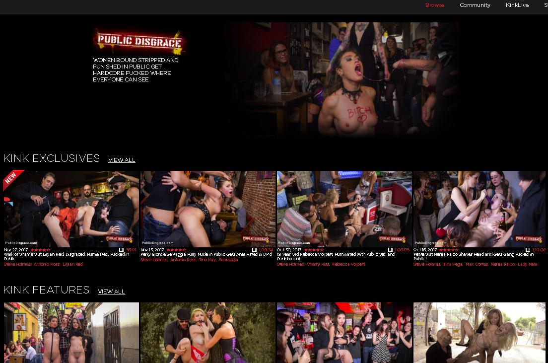 PublicDisgrace SiteRip / BDSM / 94 vids