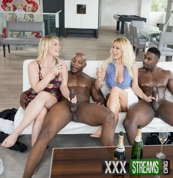 Kylie Page, Hadley Viscara - Sorority Group Sex (Blacked/2017/1080p)