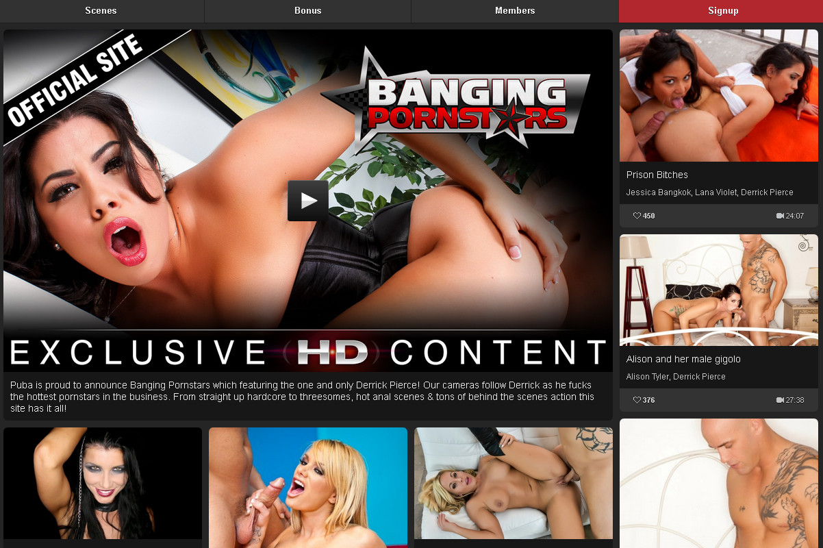 BangingPornstars SiteRip / Porn Stars / 49 vids