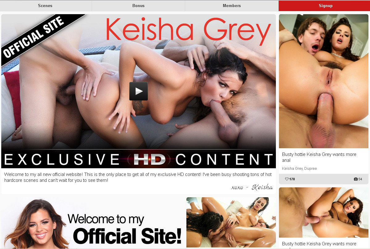 Keishaxxx SiteRip / Big Boobs / 20 vids