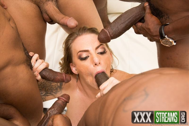 Juelz Ventura - Gets Attacked By A Gang Of Big Black Cocks (JulesJordan)