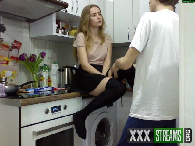 Teen blonde Alex fucked and gets cum in mouth