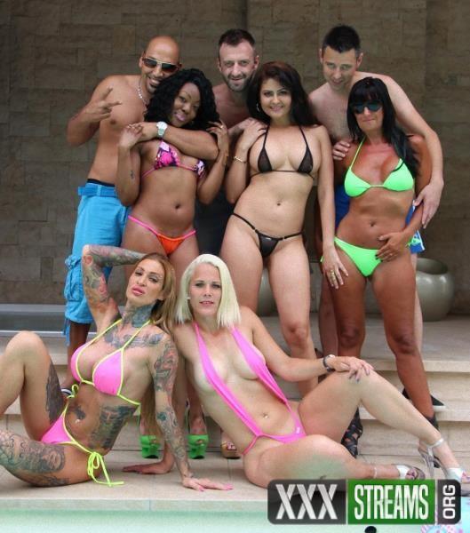 Mariska, Debby Pleasure, Goldy Nadia, Calisi Ink - Summer Sex Party (MariskaX.com/2018/FullHD)
