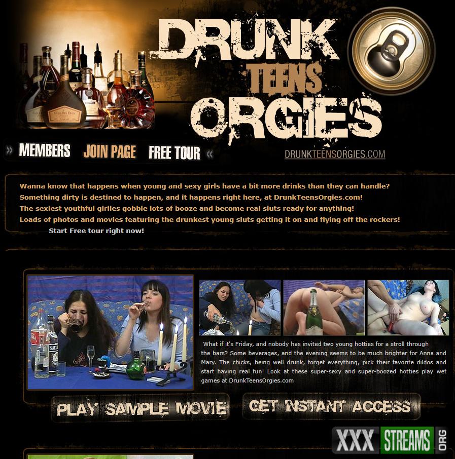 DrunkTeensOrgies.com – SITERIP