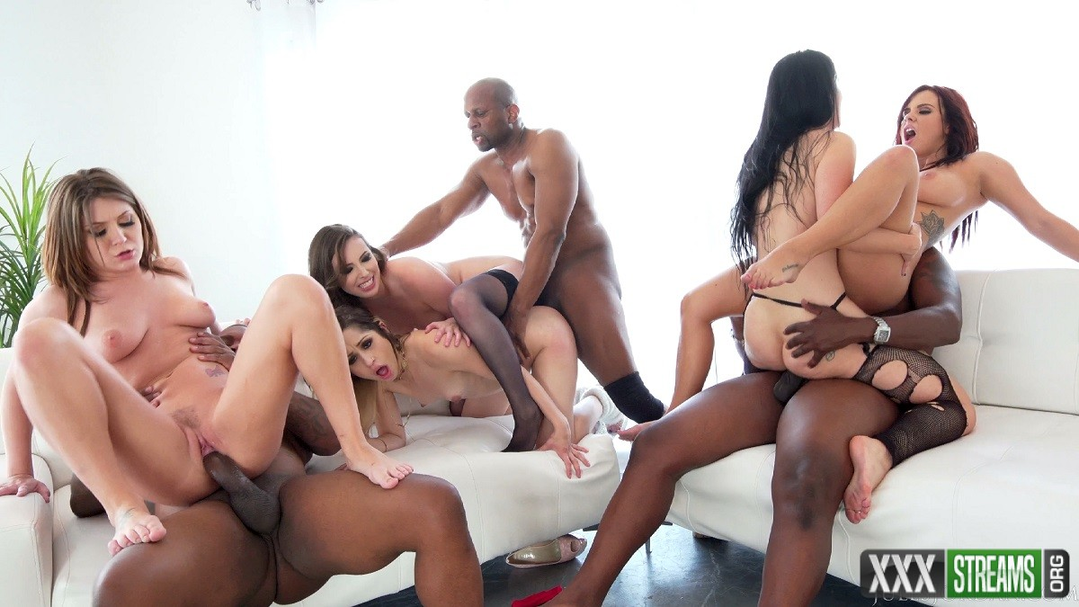 Interracial Orgy Buffet - Lex And Friends Order Up White Girl Anal, DP, Facials And More (JulesJordan)