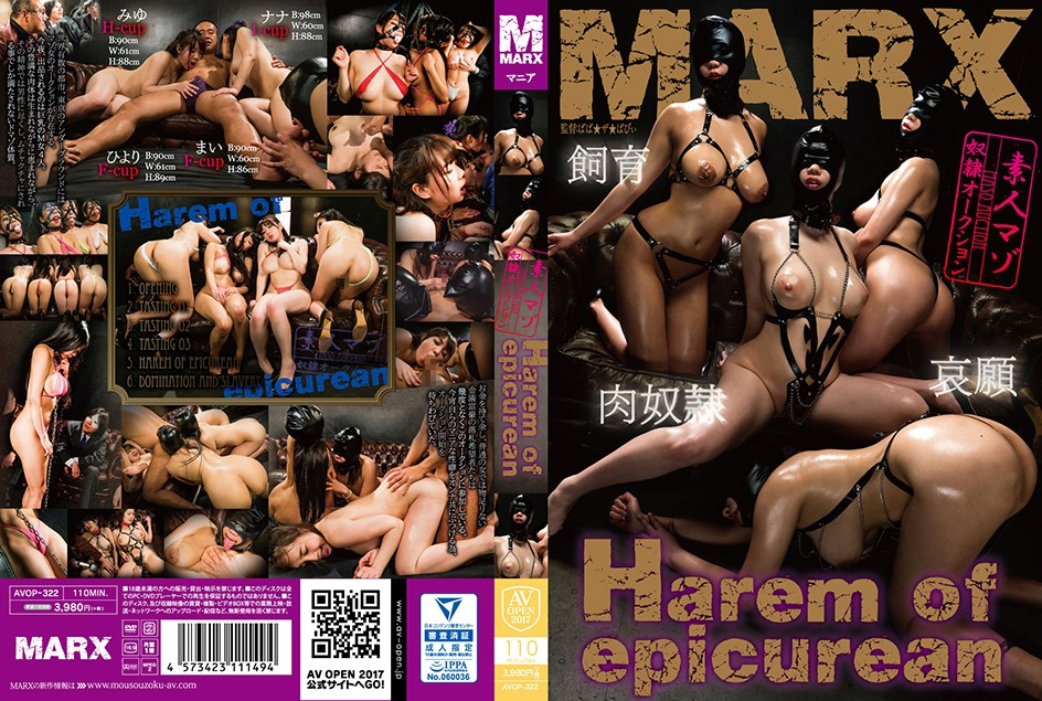 AVOP-322 Harem of epicurean ~素人マゾ奴隷オークション~ AV OPEN 2017マニア部門 凌辱 2017-09-01