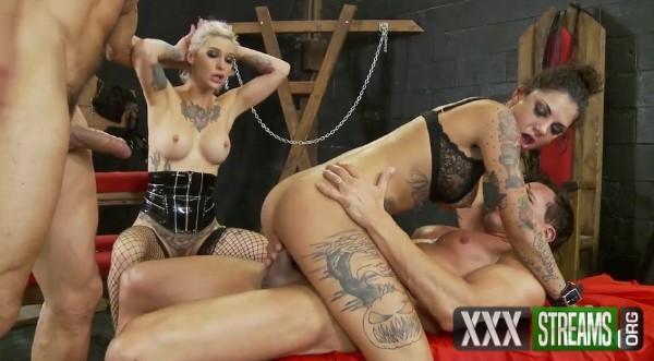 Marco Banderas, Bonnie Rotten, Kleio Valentien - Gorgeous tattooed nasty girls take cocks in all her holes (2018/PinkoClub.com/HD)