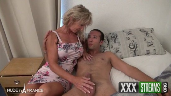 Marina Beaulieu - Busty blonde housewife gets hard analized and jizzed on her feet by her handyman (NudeInFrance/SD)