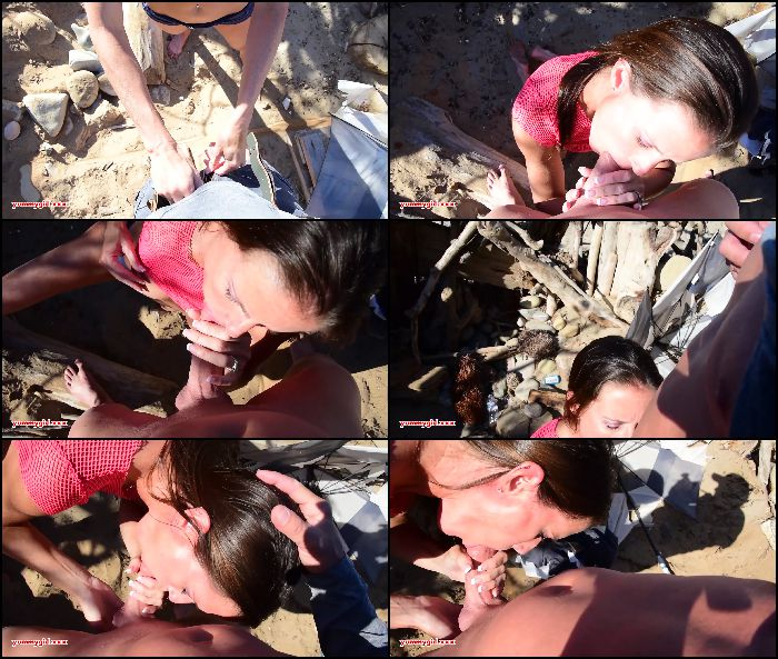 sofie-marie-fishnet-and-shorts-beach-blow-job-2018-06-12 bRoy8Q Preview