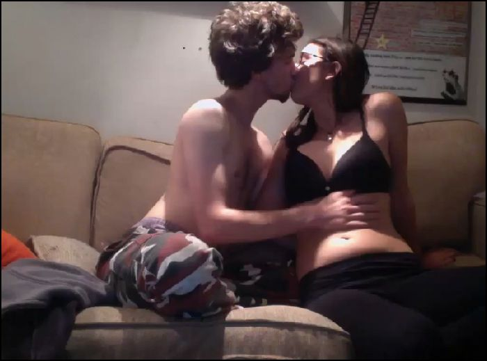 Bespectacled GF gets fucking front of webcam