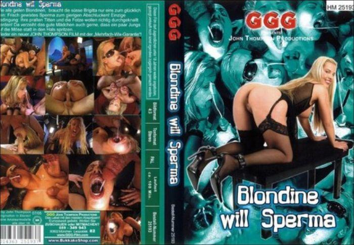 Blondine Will Sperma