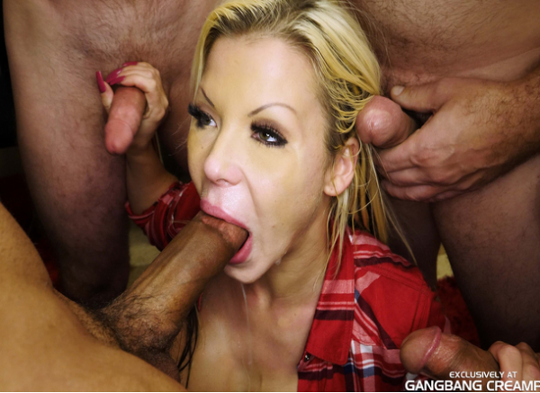 Barbie, Eddie Jaye, Kyle Aziani, Randy Denmark, Rey Castillo, Rob Banks – Behind The Scenes with Barbie (2018/GangbangCreampie.com/HD)