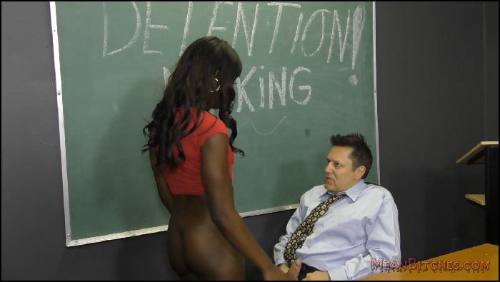 MeanBitches Femdom Store Ebony Student Turns Her White Teacher Into Her Foot Slave  Ana Foxxx Preview