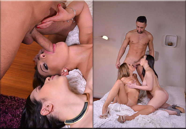 Ally Breelsen And Nekane – The Awakening – A Cock Sharing Cum Shot Breakfast For Three