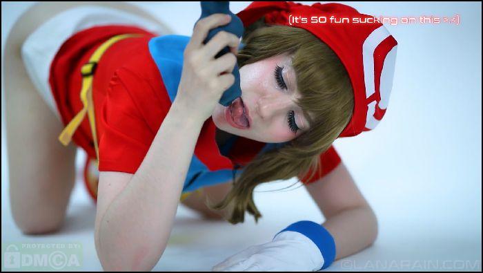 Lana Rain May From Pokemon Plays With Houndoom Preview