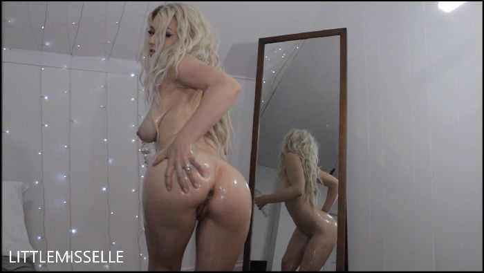 LittleMissElle Oiled Up Blonde Strips amp Cums Preview
