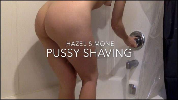Hazel Simone Shaving My Hairy Pussy Preview