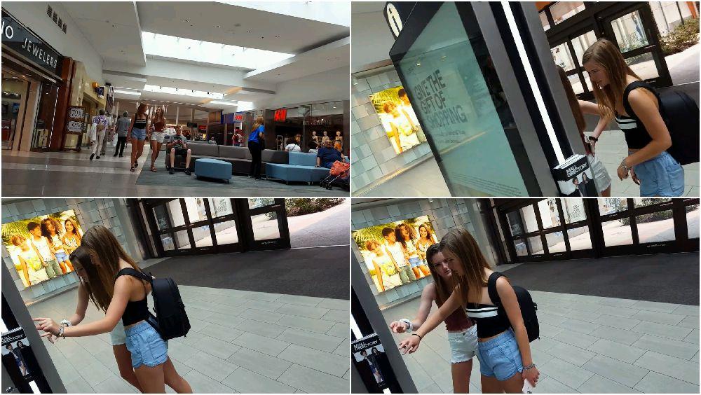 Public voyeur in shopping mall