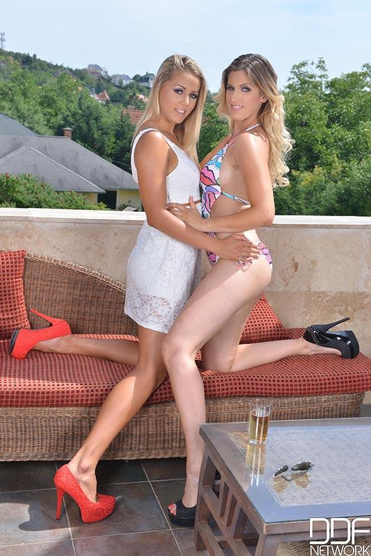 Christen Courtney & Alice aka Mira Sunset – Rooftop Party Turned Naughty – Lesbians Pussy Licking Affair (DDFNetwork.com)