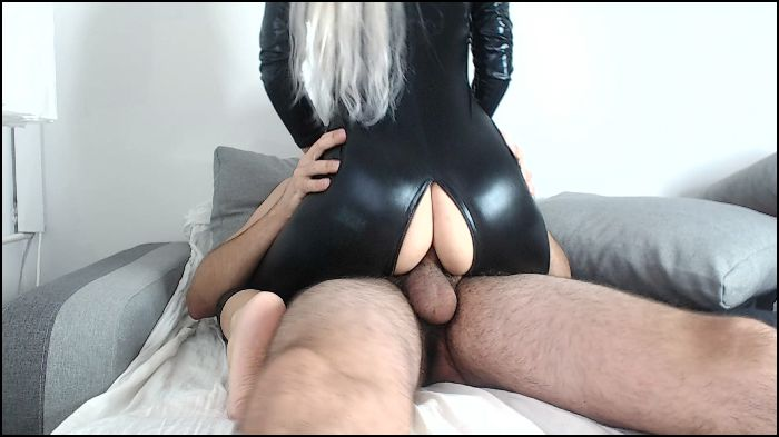 blonde housewife Anal in catsuit creampied Preview