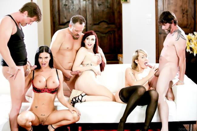 Amber Ivy, Maxim Law, Jasmine Jae, Eric Masterson, Alec Knight, Jack Vegas – Neighborhood Swingers (DevilsFilm.com/2019/HD1080p)