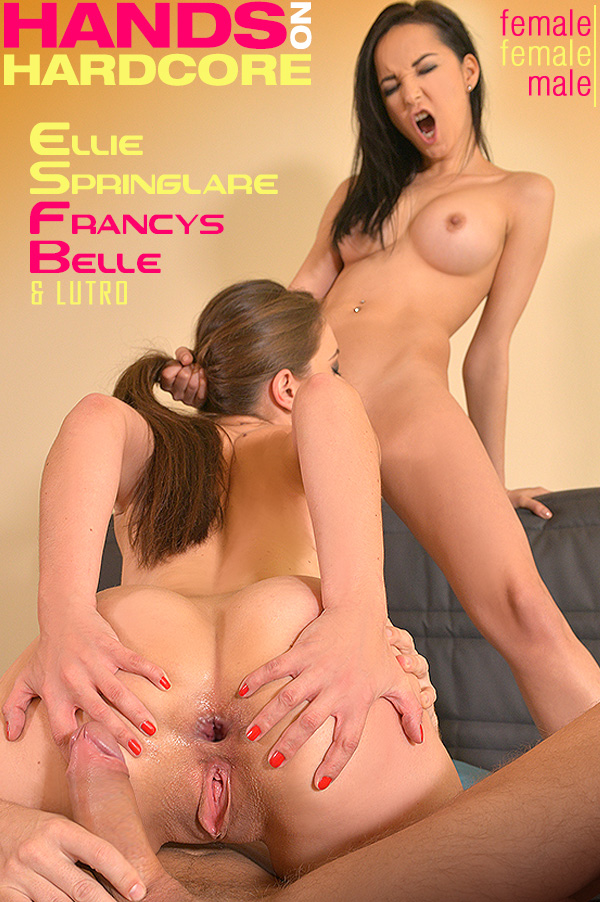 Ellie Springlare, Francys Belle – Hands On Hardcore (HandsOnHardcore.com/DDFNetwork.com/2019/480p)