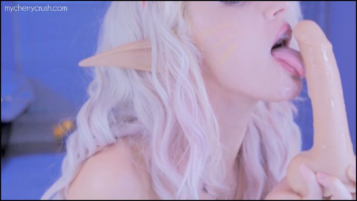 cherrycrush Cosplay Elf Kitty sucks your cock Preview