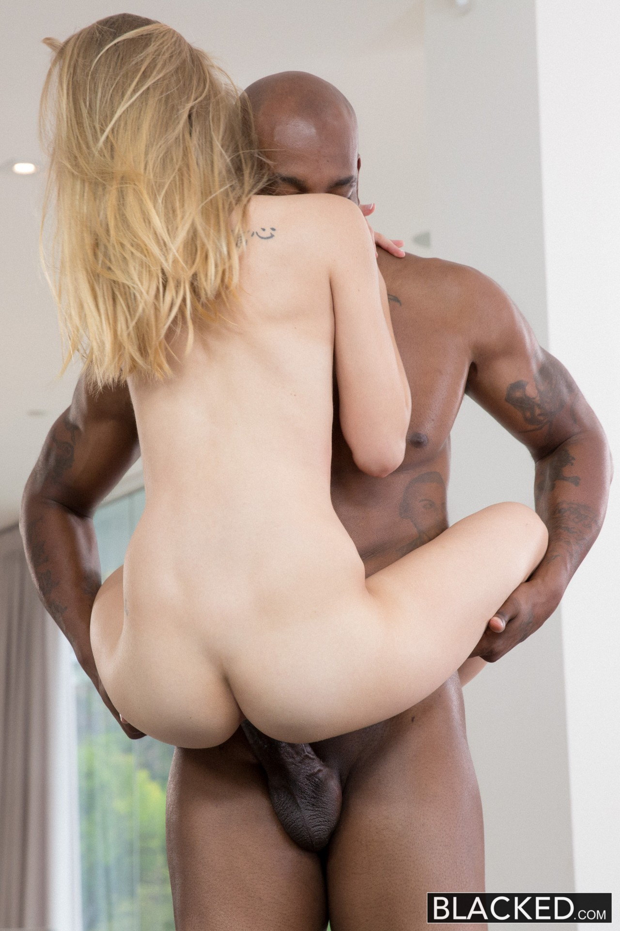 Tall Blonde Teasing Big Smooth Ass Cock