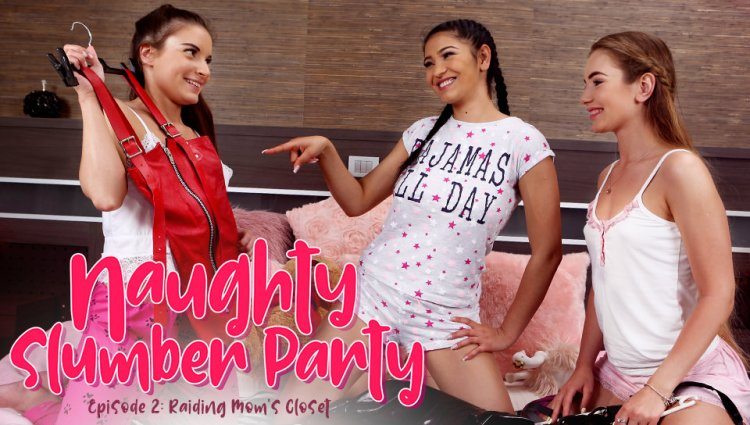 Anita Bellini, Mary Rock, Ava Black – Naughty Slumber Party Raiding Mom's Closet (LezCuties/2019/HD1080p)